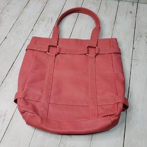 Echo Woman Coral Pebble Textured Purse Bag